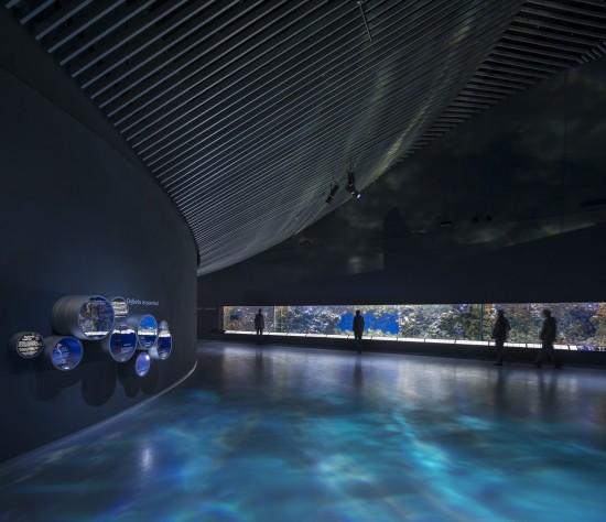 Den Blå Planet, interiör